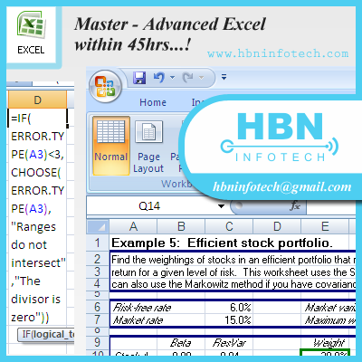 advanced excel course in bangalore