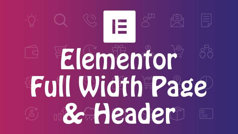 elementor full width