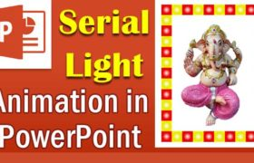 How to make a serial light animation in PowerPoint