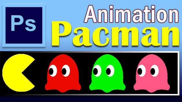 How to create pacman animation characters in photoshop