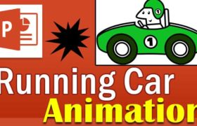 How to create running car Animation in PowerPoint