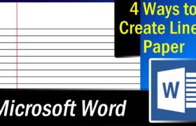 lined paper in microsoft word