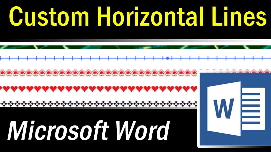 microsoft word custom horizontal lines