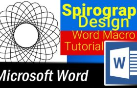 Spirograph Designs in Microsoft Word using Word Macros or VBA