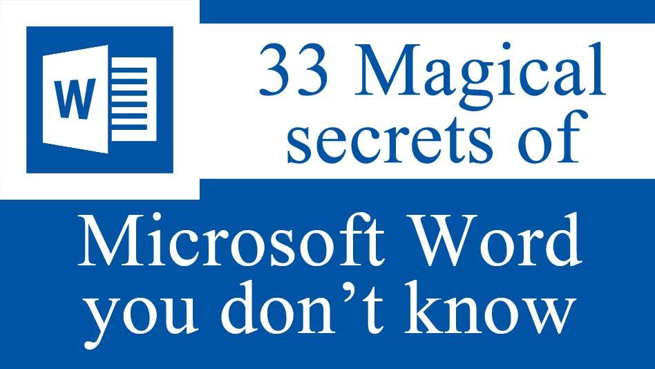 Microsoft word tricks