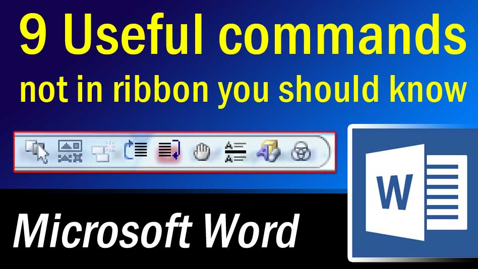 commands not in ribbon