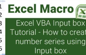 excel vba input box tutorial, excel vba input box examples