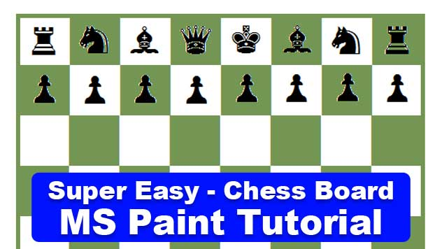 Chess Board in MS Paint