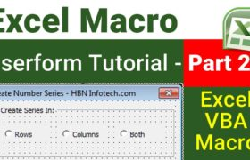 excel vba userform tutorial