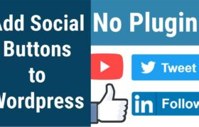 How to add social like & share buttons