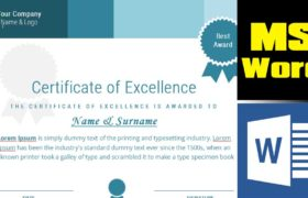 How to design a certificate from scratch in MS Word - certificate template