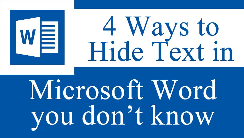 hide Text in Microsoft Word