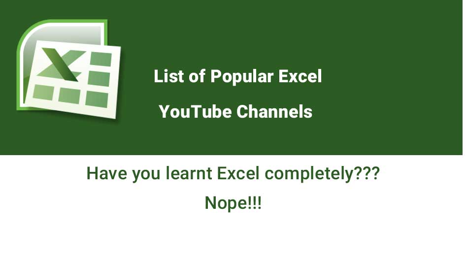 Excel YouTube Channels