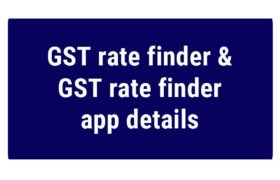 GST rate finder india