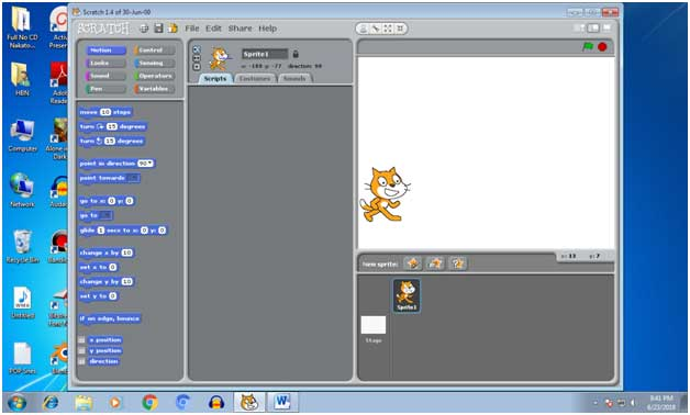 How to make a walking animation in scratch