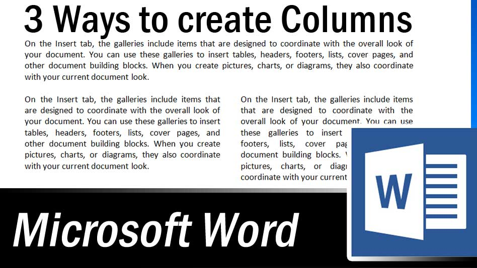 Multiple Columns in MS Word