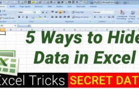5 Ways to Hide Data in Excel