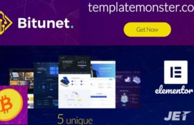Cryptocurrency Wordpress Theme - Bitunet Cryptocurrency Website - Cryptocurrency Elementor WordPress Theme