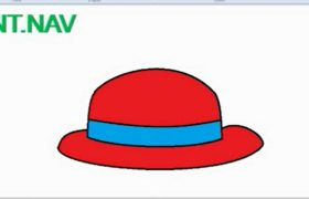 How to Draw Hat in MS Paint - Microsoft Paint Tutorial