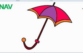 How to Draw Umbrella in MS Paint - Microsoft Paint Tutorial