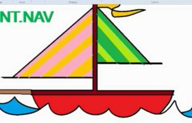 How to Draw Yacht in MS Paint - Microsoft Paint Tutorial
