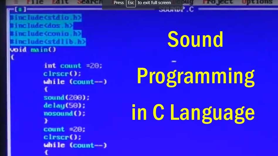 Sound Programming in C Language - How to Program Airtel Tune Using C
