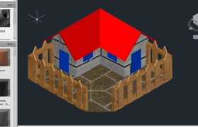 How to design a small 3D House in AutoCAD