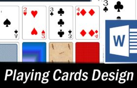 playing cards word template