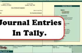 How to record journal entries in Tally - Tally Tutorial for Beginners