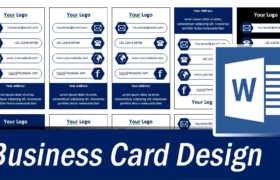 Vertical Business Card Word Template