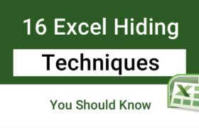 Hiding Techniques in Excel