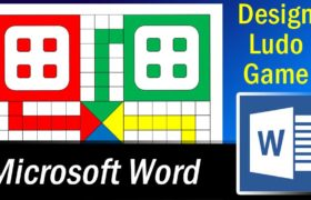 How to Design Ludo Game in Ms Word