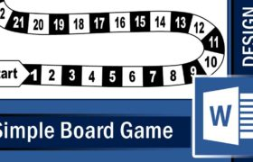 How to make a simple Board Game in Microsoft Word