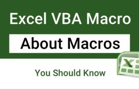 About Excel Macros