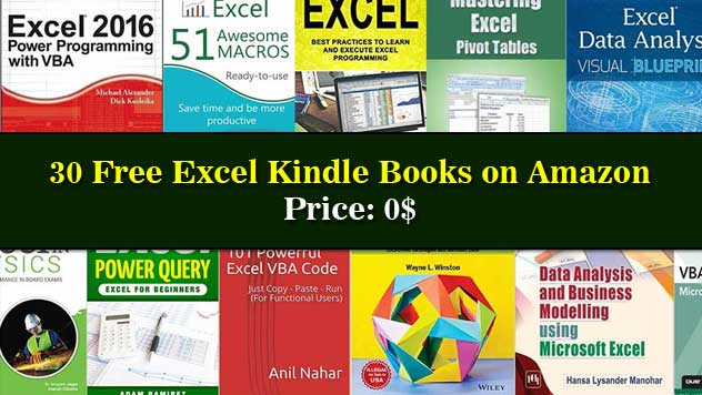 Free Excel Kindle Books on Amazon