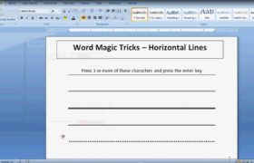 Automatic Horizontal Line in Word - Word Magic Tricks