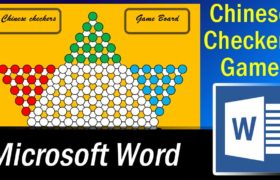 Chinese Checkers Game Board Design in Microsoft Word
