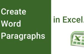 Create Word Paragraphs in Excel - Embed Word in Excel