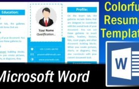 How to create a Colorful Resume Template in Word - Microsoft Word Tutorial
