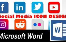 How to design Social Media Icons in Word - Microsoft Word Tutorial