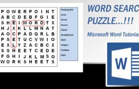 How to Design Word Search Puzzle Using Textbox Linking Feature in Microsoft Word