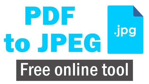 PDF to JPEG online free