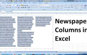 How to create Newspaper Columns in Excel