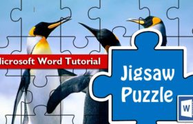 How to design a jigsaw puzzle template in Microsoft Word