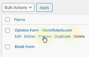previewing wpform the cool form plugin for wordpress