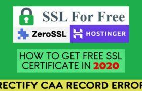 Create Free SSL Certificate Using sslforfree in 2020