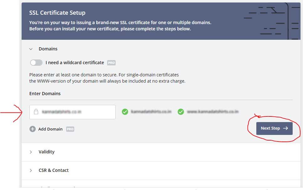 generate free ssl certificate for website