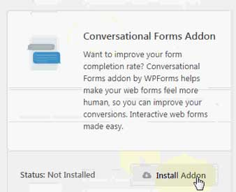 conversational forms wordpress addon