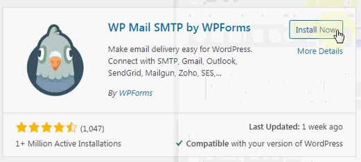 installing wp mail smtp by wpforms