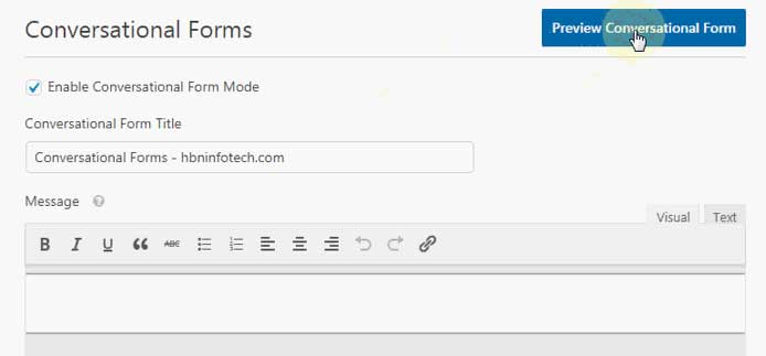 preview wpforms conversational forms